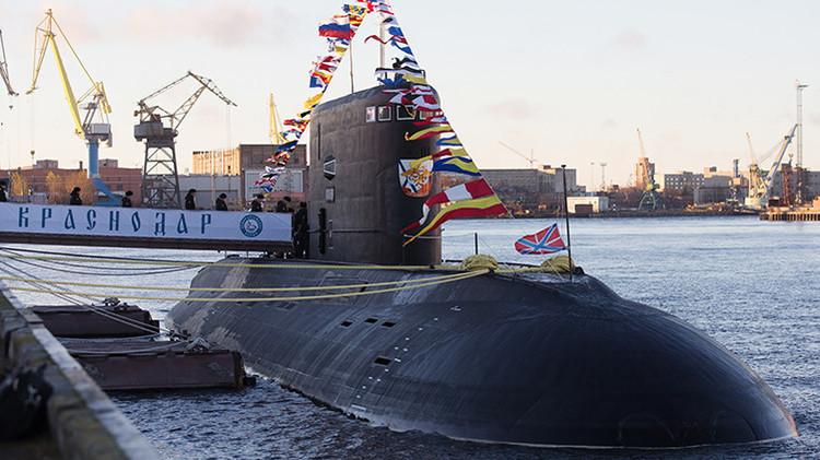 La Armada rusa ya dispone del Krasnodar, el nuevo submarino 'invisible' para los radares