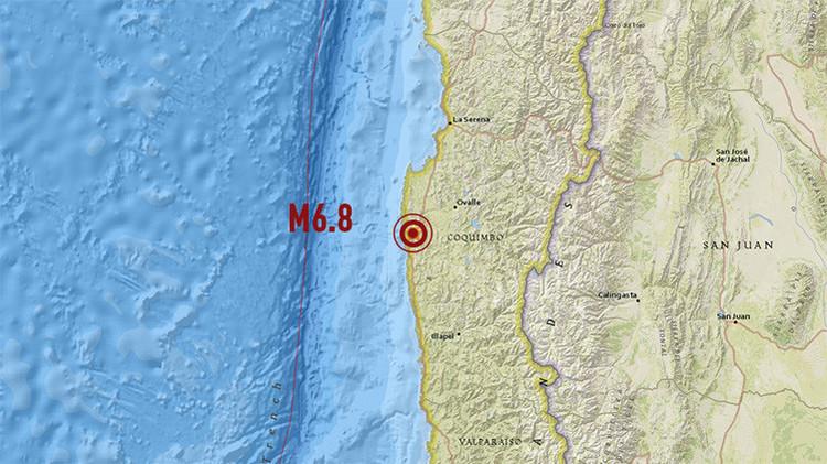 Tres fuertes sismos sacuden el centro de Chile en unas horas