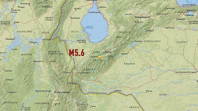 Se registra en Venezuela un sismo de magnitud 5,6