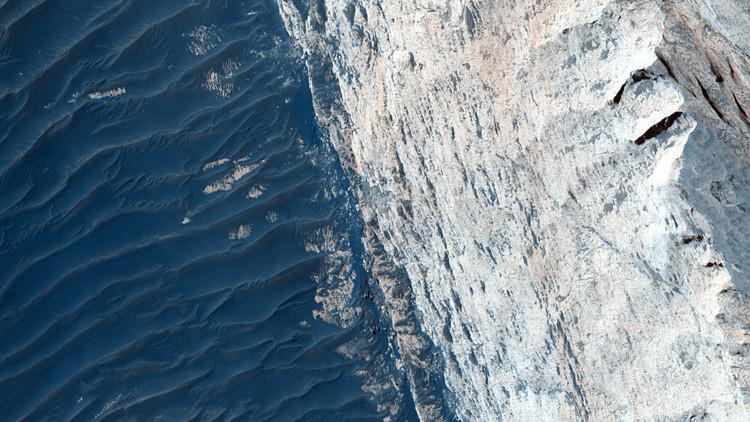 Marte en detalle: la NASA capta una imagen del cañón de Ofir