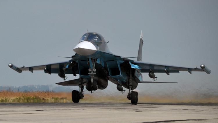 El bombardero ruso Shukoi Su-34