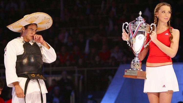 El mexicáno Jorge Bustamante en campeonato de Kobudo en Moscú