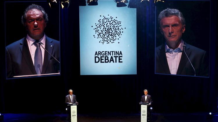 Jornada histórica para Argentina: Daniel Scioli y Mauricio Macri debaten cara a cara