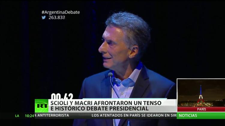 Scioli y Macri afrontan un tenso debate electoral
