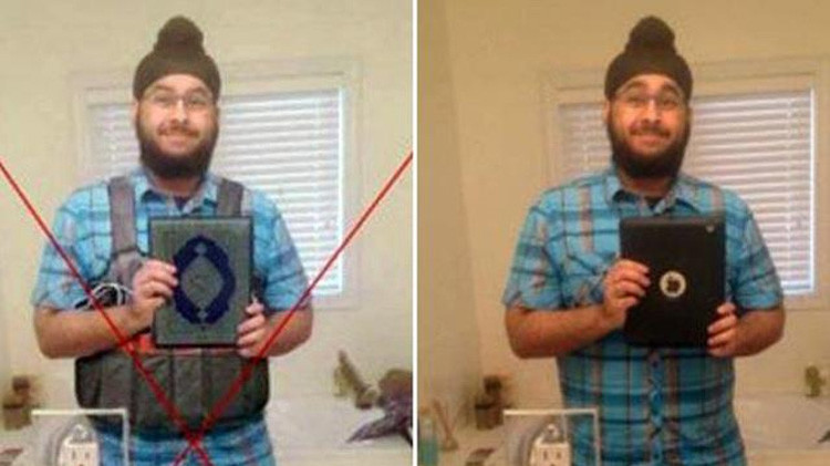 Alteran la foto de un sij y la prensa lo tilda como uno de los atacantes de París