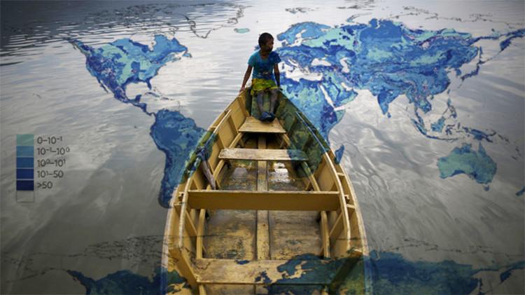Mapa: un 'océano' subterráneo capaz de hundir los continentes