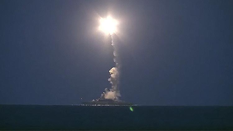 El primer ataque al Estado Islámico de la Marina rusa