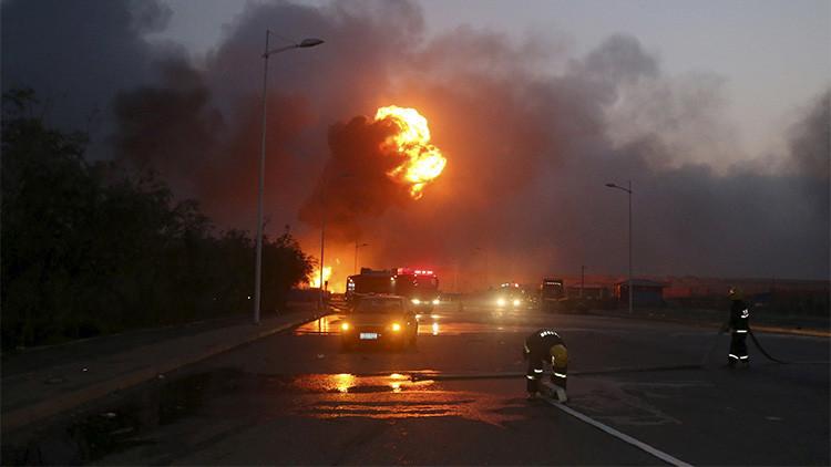 Fotos: Se registra una fuerte explosión en una planta química de China