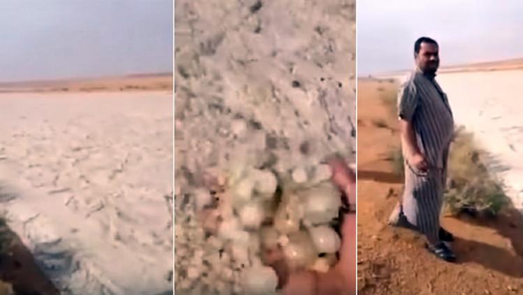Video: Graban un extraño fenómeno natural en el desierto de Arabia Saudita