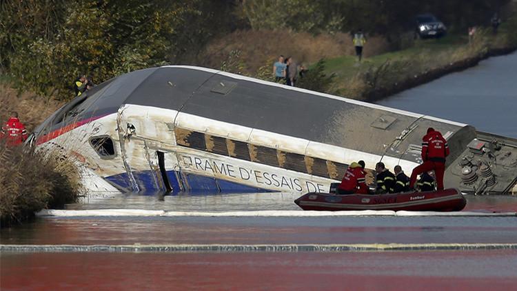 Revelan la razón del descarrilamiento del tren de alta velocidad en Francia
