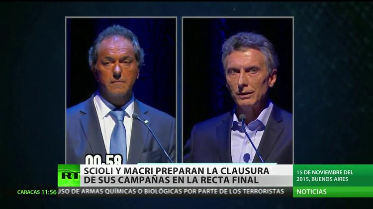 Argentina: Scioli y Macri preparan la clausura de sus campañas en la recta final