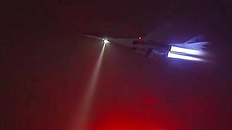 Video: Un Tu-160 cargado con misiles de crucero reposta durante un vuelo nocturno rumbo a Siria