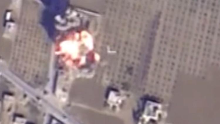 Fin de semana bajo las bombas: así impactó un misil ruso de crucero sobre el EI en Siria