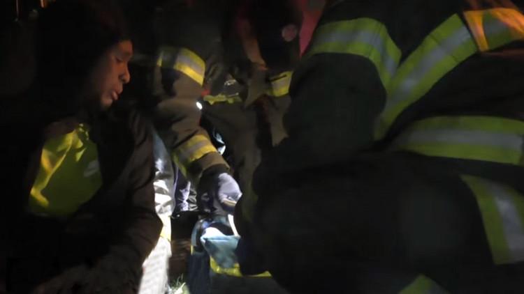 Imágenes exclusivas: cinco manifestantes heridos durante una protesta en EE.UU.