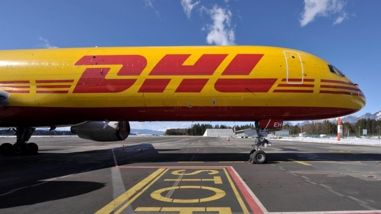 Un avión de DHL en el aeropuerto de Ljubljana, Eslovenia (foto ilustrativa)