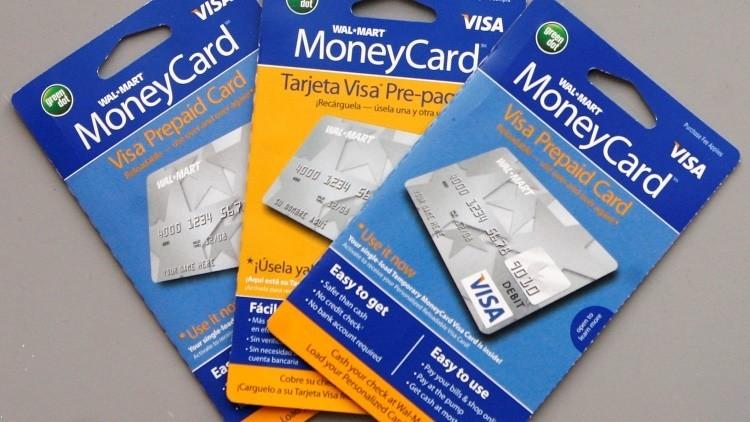 Tarjetas prepagadas recargables de Visa. Foto ilustrativa