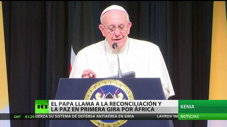 El papa Francisco llama a la reconciliación y la paz en su primera gira por África