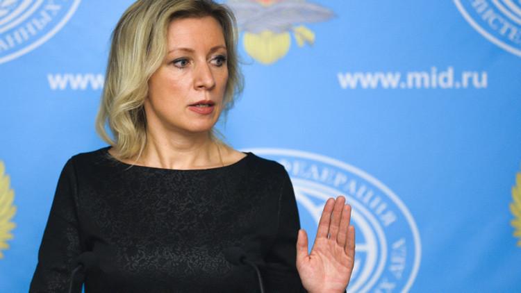 La portavoz del Ministerio de Exteriores de Rusia, María Zajárova