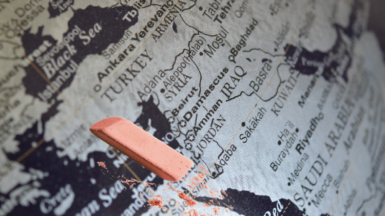 'Borrado del mapa': la CNN publica un mapa de Oriente Medio sin Israel