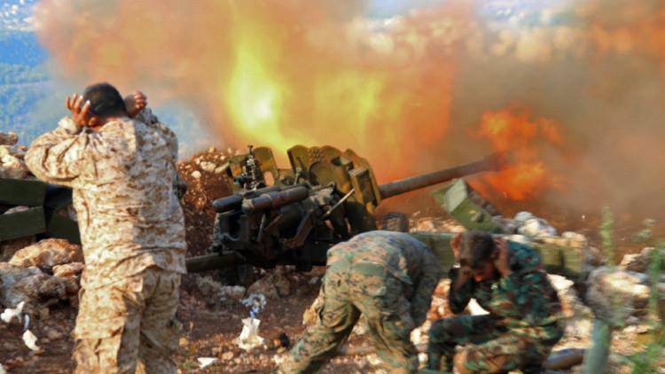 Soldado del ejército sirio en Latakia