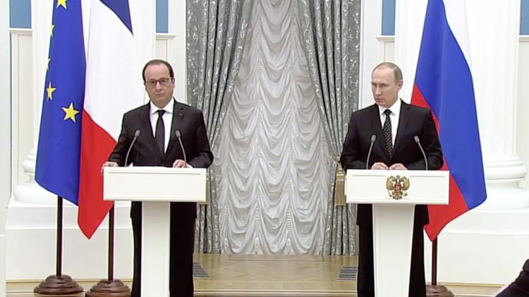 Versión completa: Rueda de prensa de Vladímir Putin y François Hollande tras su encuentro en Moscú