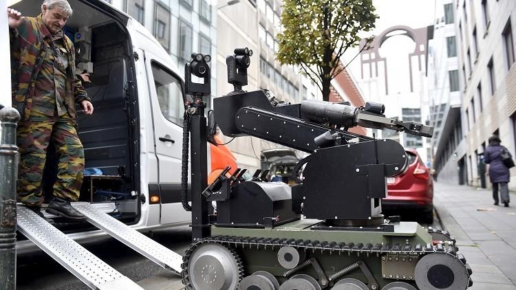 Un robot de desactivación de bombas