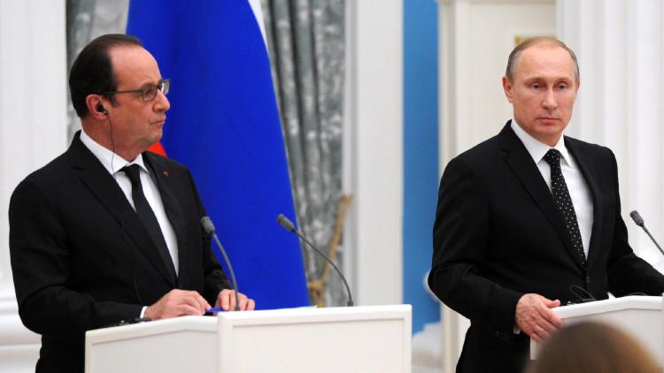 Hollande y Putin discutieron el levantamiento de las sanciones a Rusia