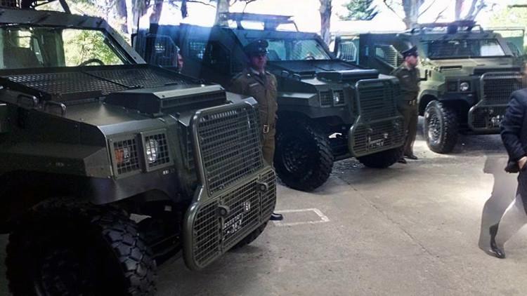 Chile compra 12 blindados con ametralladoras 'para dialogar' con el pueblo mapuche