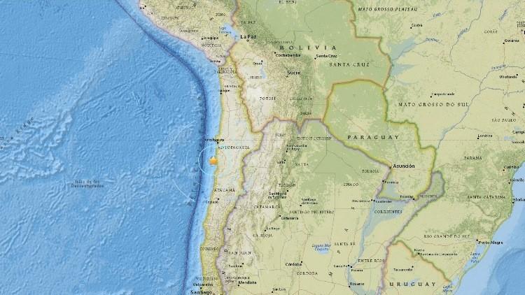 Registran un sismo de magnitud 6,2 en Chile