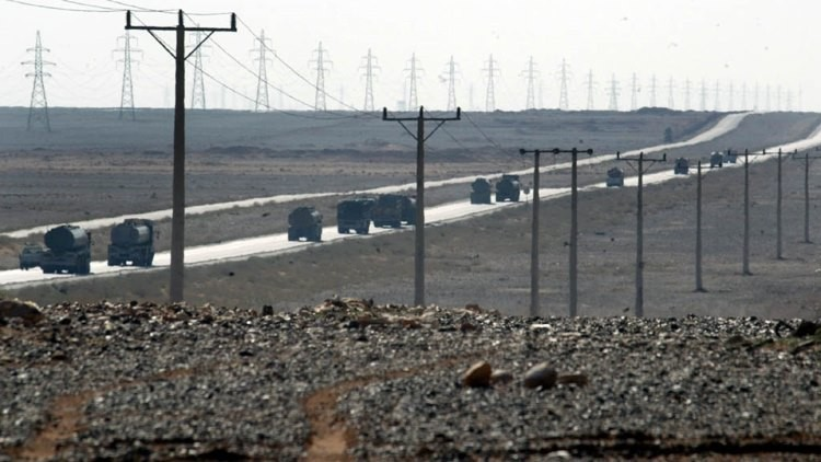 Camiones cisterna con petróleo de Irak. Foto ilustrativa