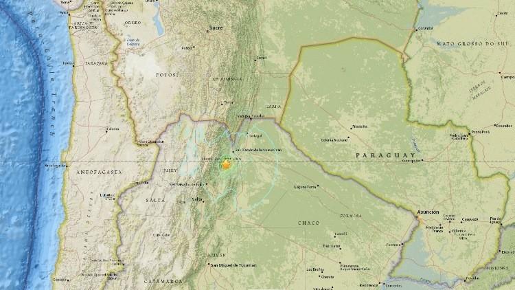 Registran un sismo de magnitud 5,9 en Argentina
