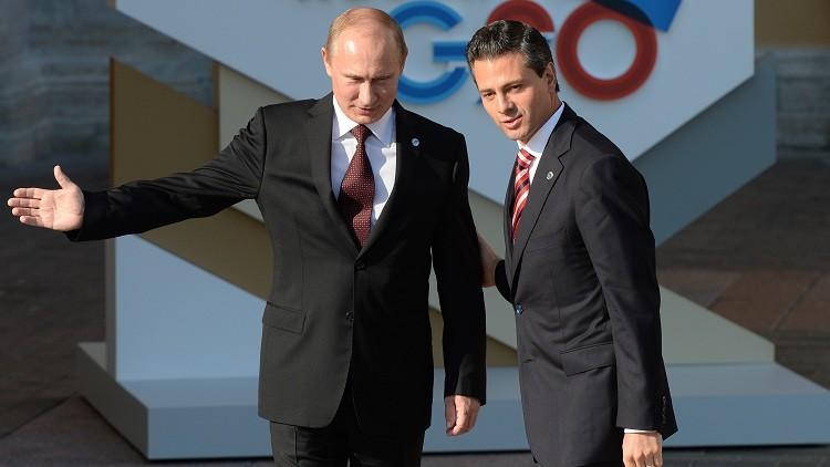 Vladímir Putin y Enrique Peña Nieto