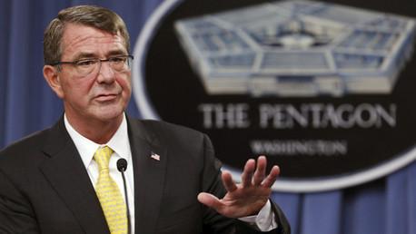 El secretario de Defensa de EE.UU., Ashton Carter, durante una rueda de prensa del Pentágono en Arlington (Virginia), el 20 de agosto de 2015.