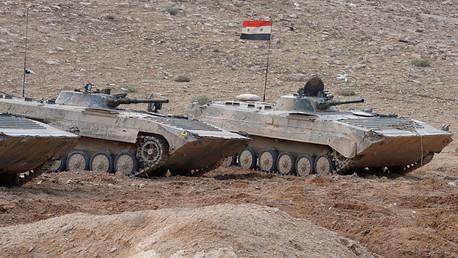Carros de combate del Ejército de Siria