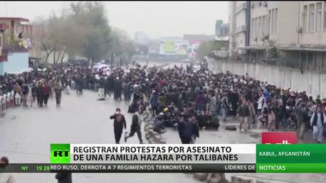Afganistán: Registran protestas por asesinato de una familia hazara por talibanes