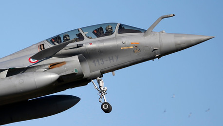 El caza polivalente Dassault Rafale de la Fuerza Aérea de Francia