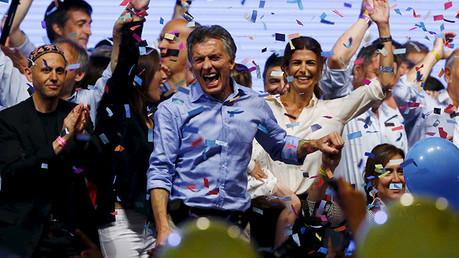 Mauricio Macri lidera las presidenciales en Argentina