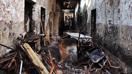 Hospital de Médicos sin Fronteras después del ataque