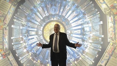 Científico británico Peter Higgs en el Museo de Ciencias de Londres