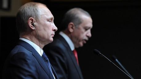 El presidente ruso, Vladímir Putin, y su homólogo turco, Recep Tayyip Erdogan