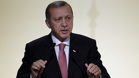 El presidente turco, Recep Tayyip Erdogan, en la Cumbre del Clima de París, Francia, el 30 de noviembre de 2015