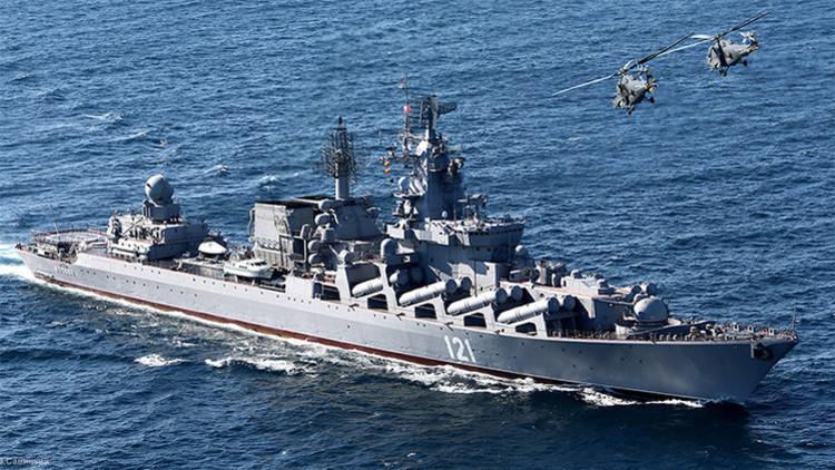 """El comandante del crucero ruso Moskvá revela contra quién se usará """"todo el armamento de la nave"""""""
