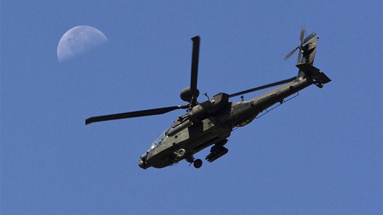 Un helicóptero estadounidense Apache se estrella cerca de Fort Campbell