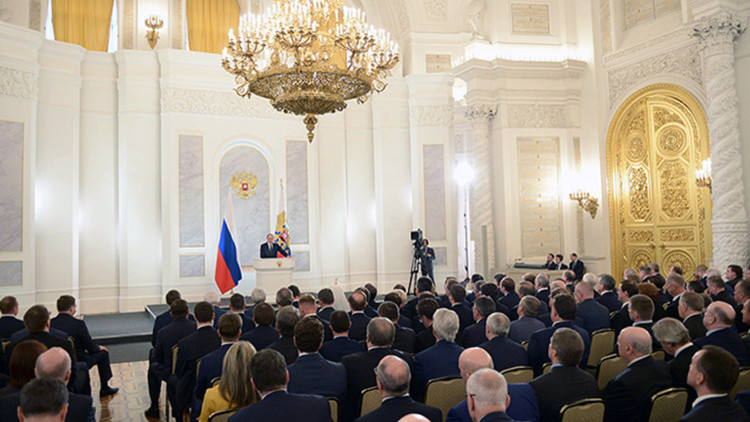 Vladímir Putin aborda los retos y desafíos de Rusia en su principal discurso anual