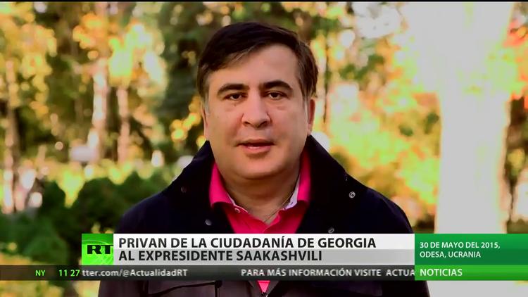 Mijaíl Saakashvili deja de ser ciudadano de Georgia