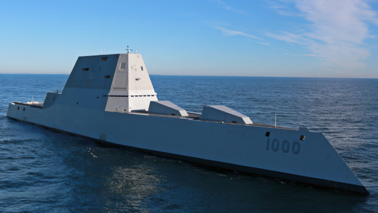El mayor destructor de la Marina de EE.UU. zarpa para su primera prueba