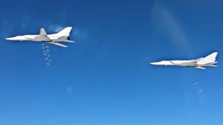 Así bombardea Rusia las posiciones del EI en Siria