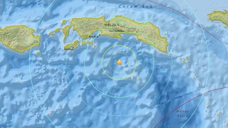 Un terremoto de magnitud 6,9 se registra en el este de Indonesia