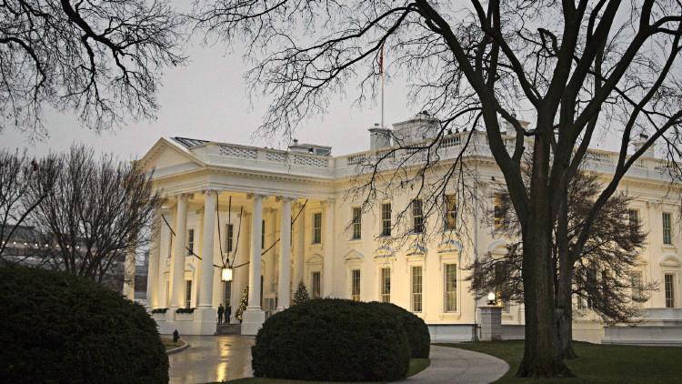 La Casa Blanca durante una lluvia