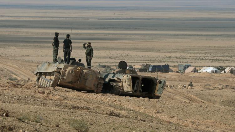 Los soldados de las Fuerzas Armadas de Siria